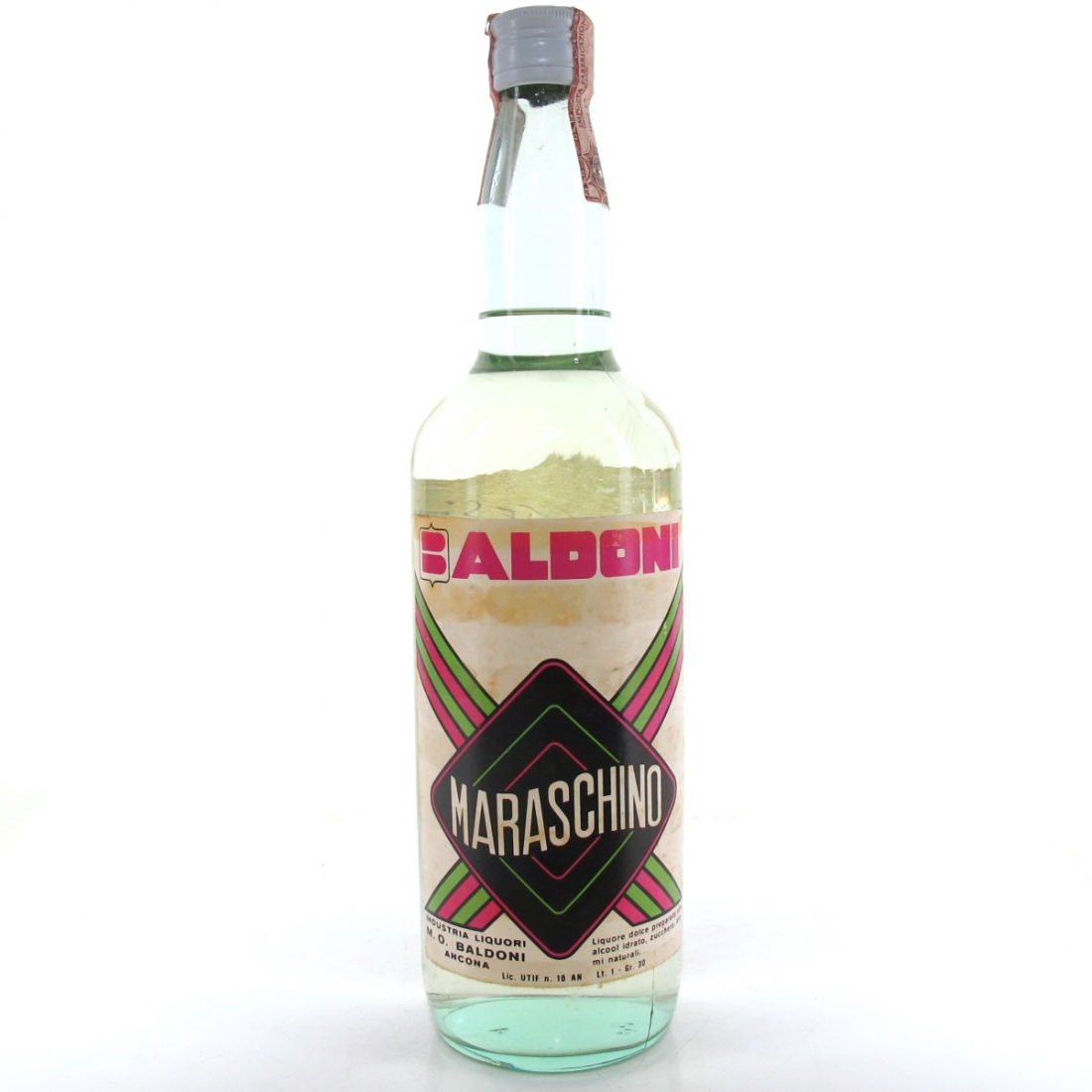 Baldoni Maraschino Liquore 1 Litre Circa 1970s
