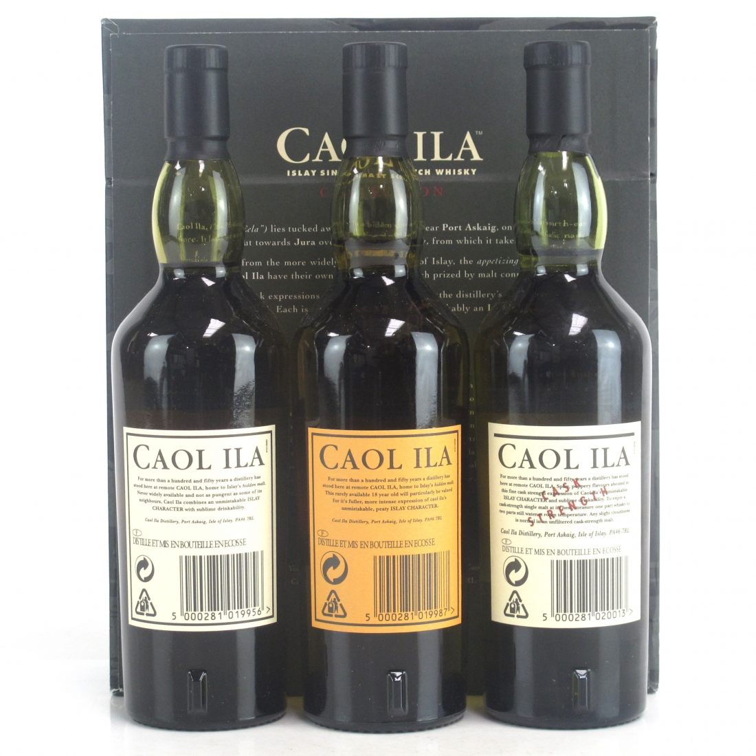 Caol Ila 12 Year Old, 18 Year Old & Cask Strength 3 x 20cl