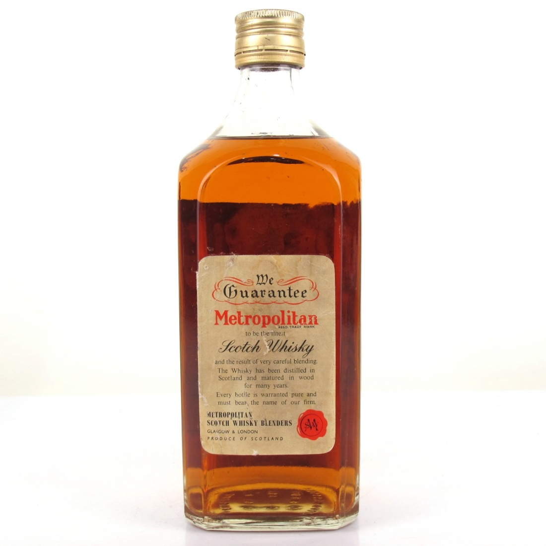 Metropolitan 5 Year Old De Luxe Scotch Whisky 1960s