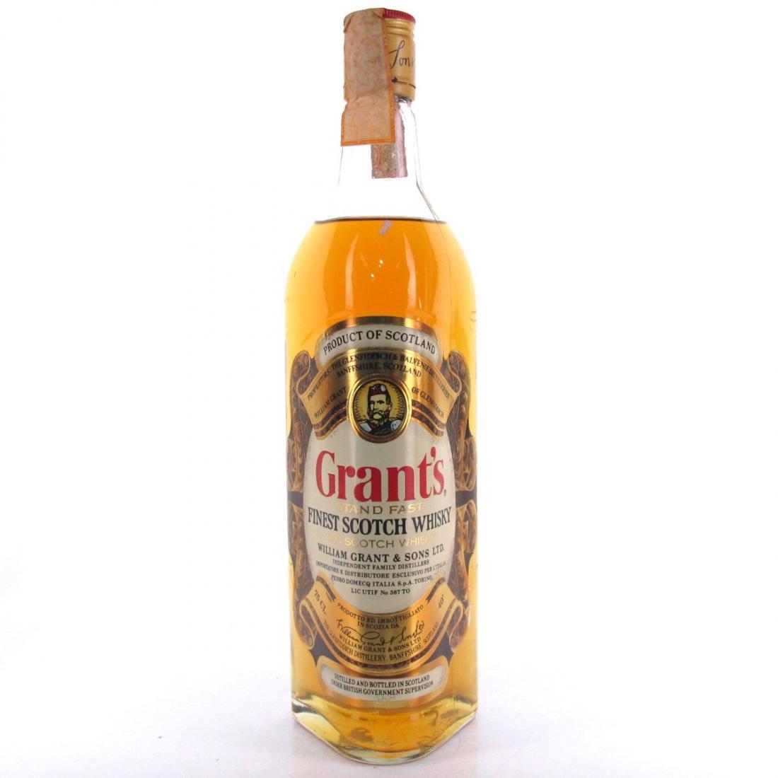 Grant's Stand Fast 1980s / Pedro Domecq Italia Import