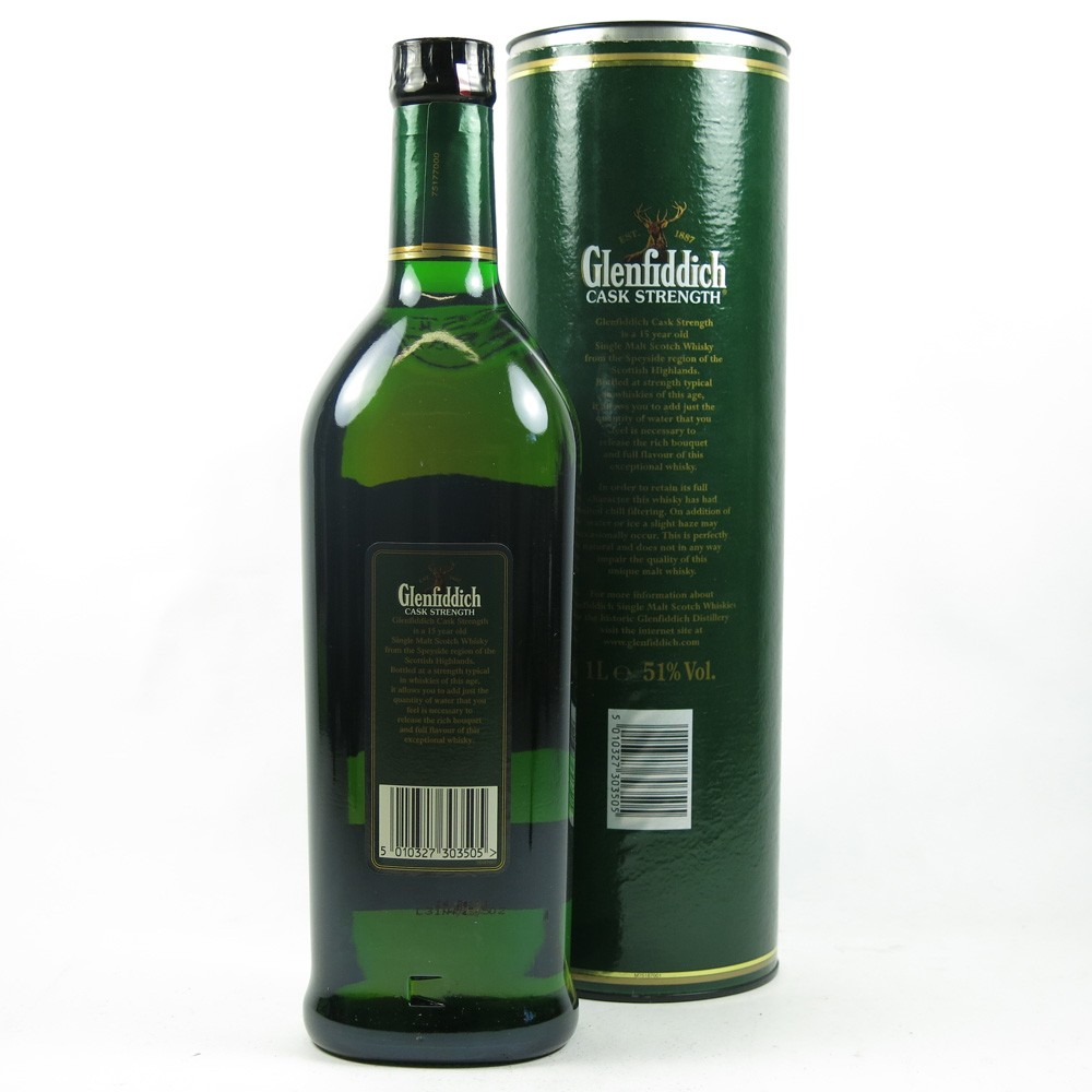 Glenfiddich 15 Year Old Cask Strength 1 Litre Back