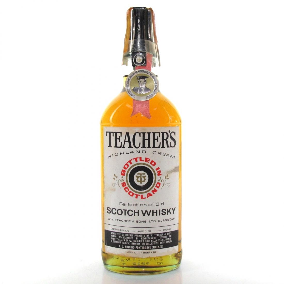 Teacher's Highland Cream 1960s / Ruffino Import