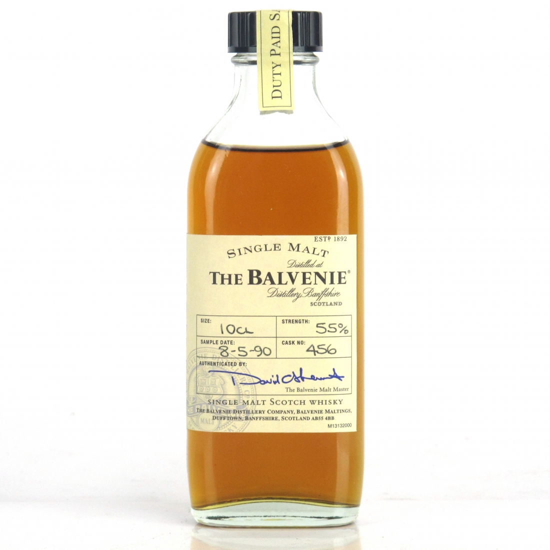 Balvenie 1990 Single Cask Sample #456 10cl