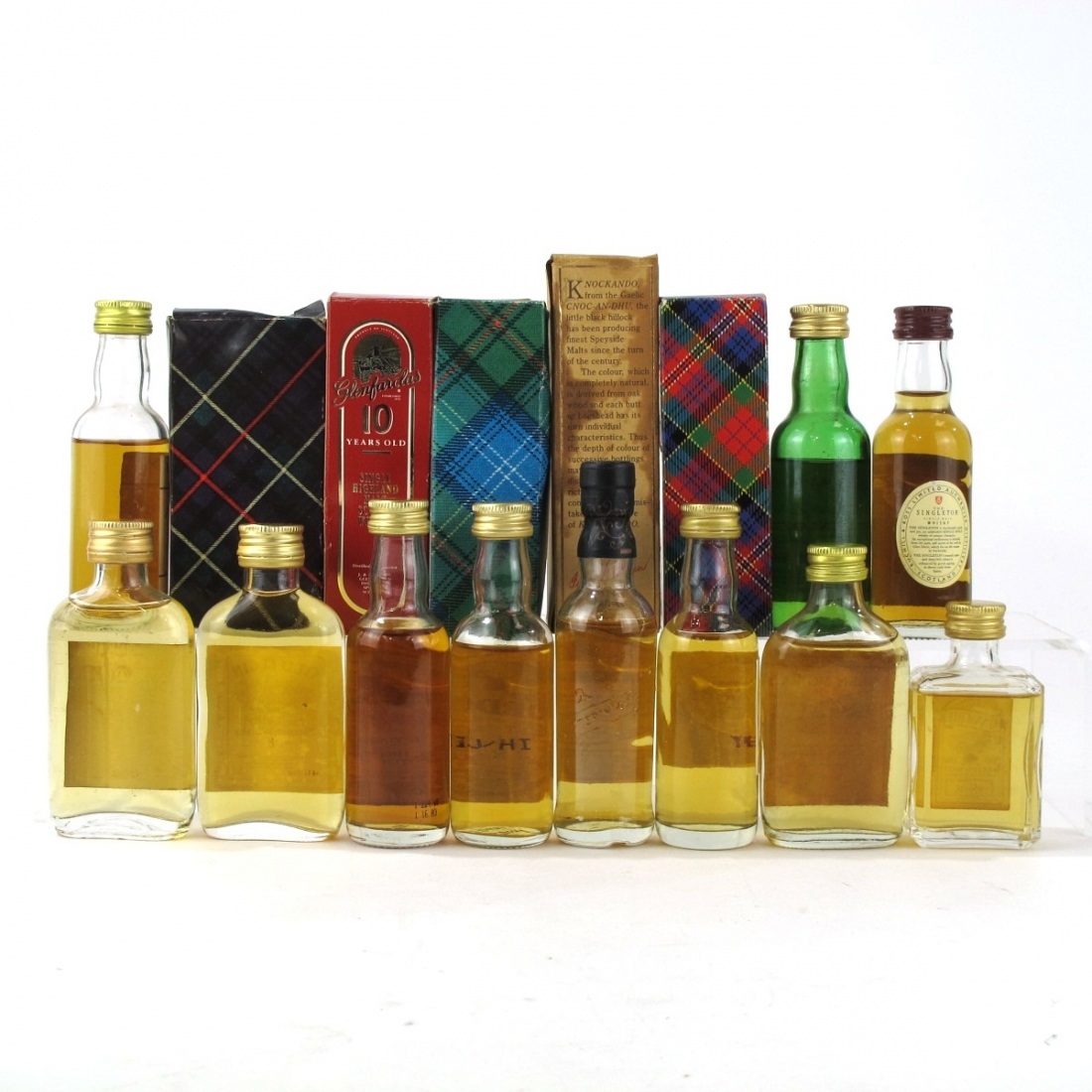 Scotch Whisky Miniature Selection x 11