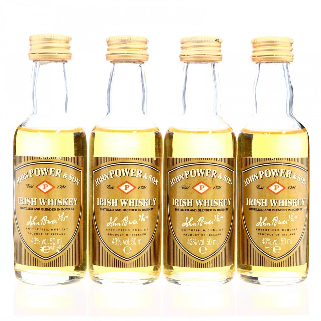 John Power & Sons Gold Label Irish Whiskey Miniature x 4