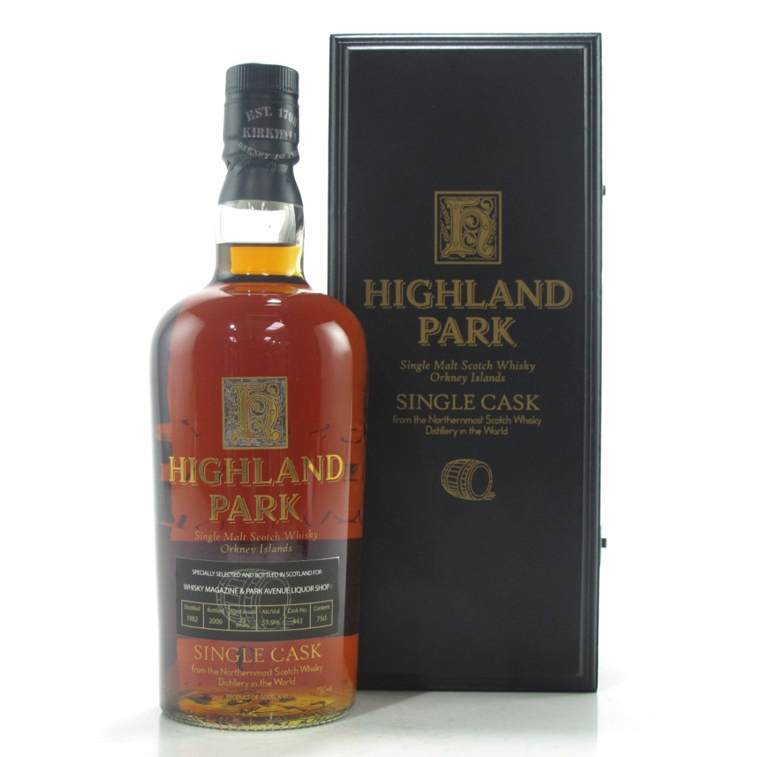 Highland Park 1982 Single Cask 23 Year Old #443 75cl / Whisky Magazine & Park Avenue Liquor Shop