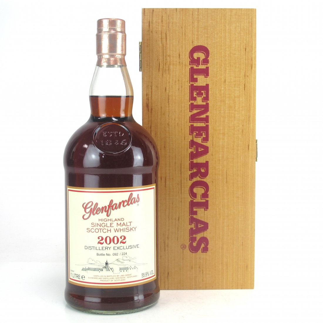 Glenfarclas 2002 Single Cask 1 Litre / Distillery Exclusive 2016