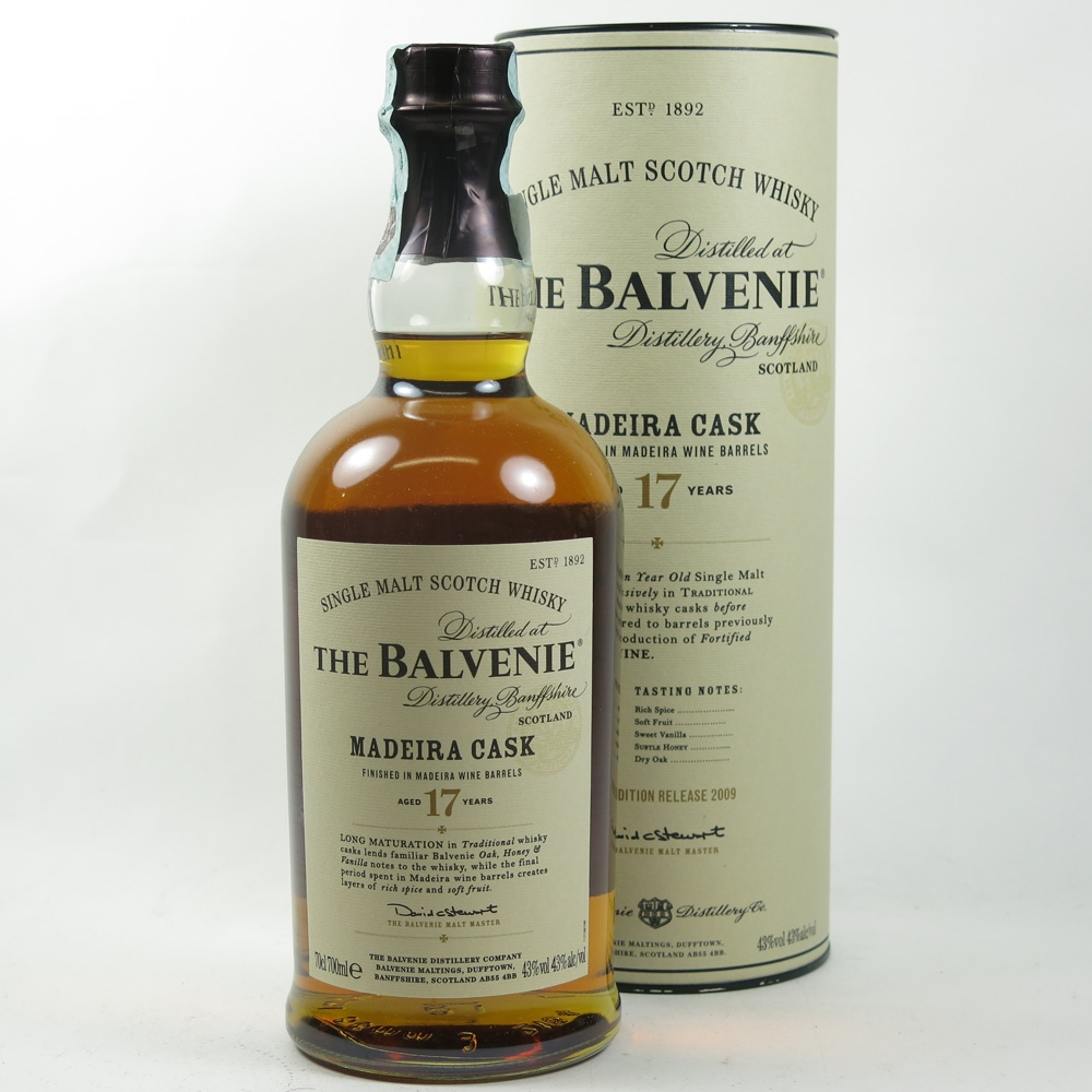 Balvenie 17 Year Old Madeira Wood Finish front