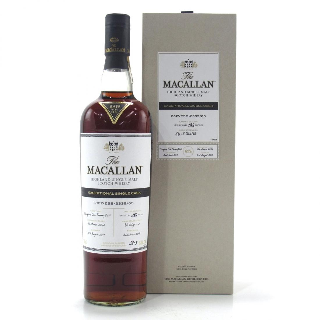 Macallan 2002 Exceptional Cask #2339-05 75cl / US Import