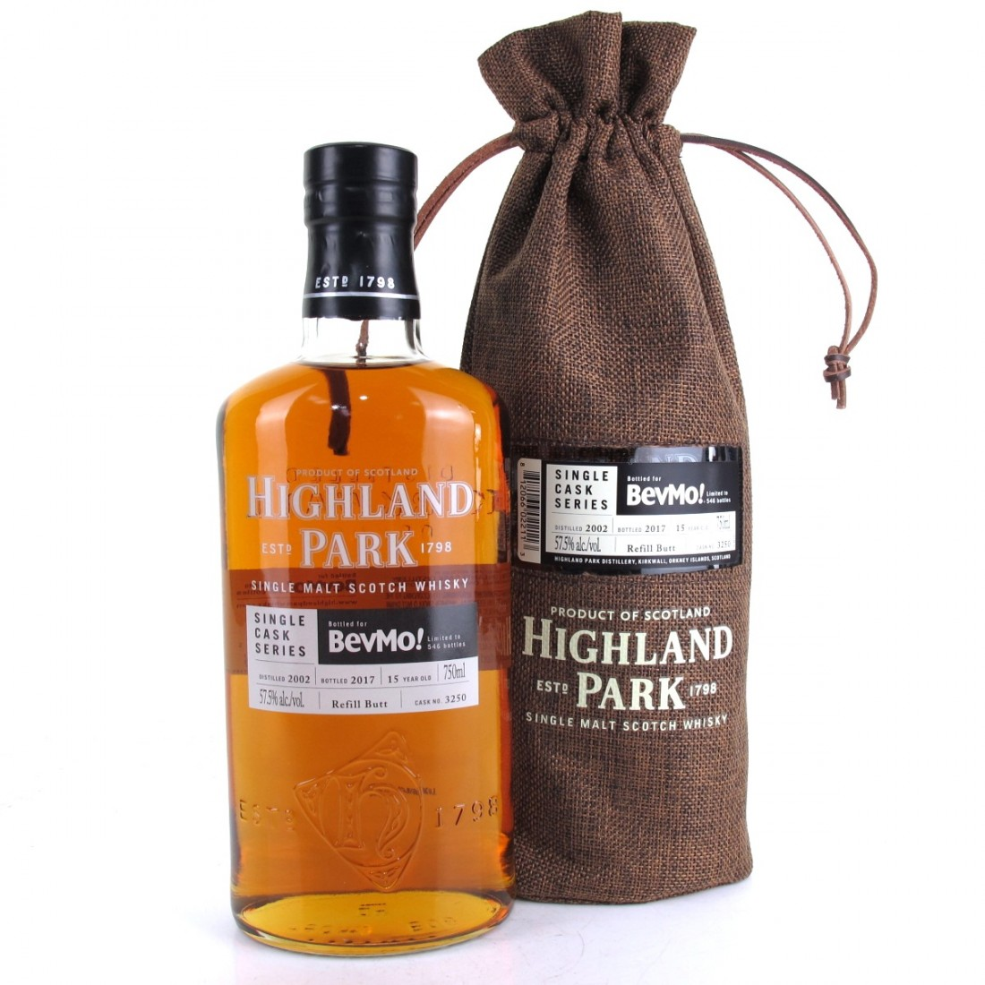 Highland Park 2002 Single Cask 15 Year Old #3250 75cl / BevMo US Exclusive
