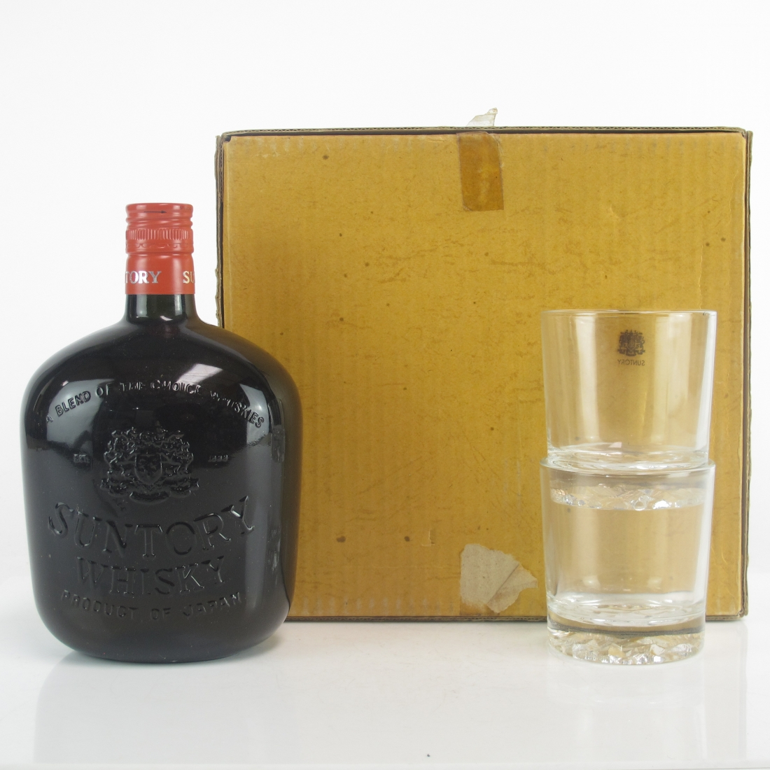 Suntory Yamazaki Very Rare Old 76cl 1970s / includes Glasses x 2