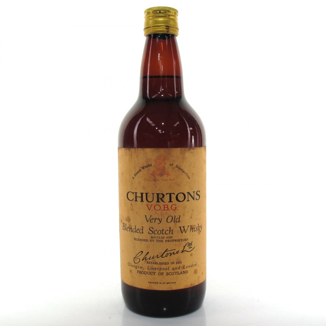 Churtons Very Old 1960s