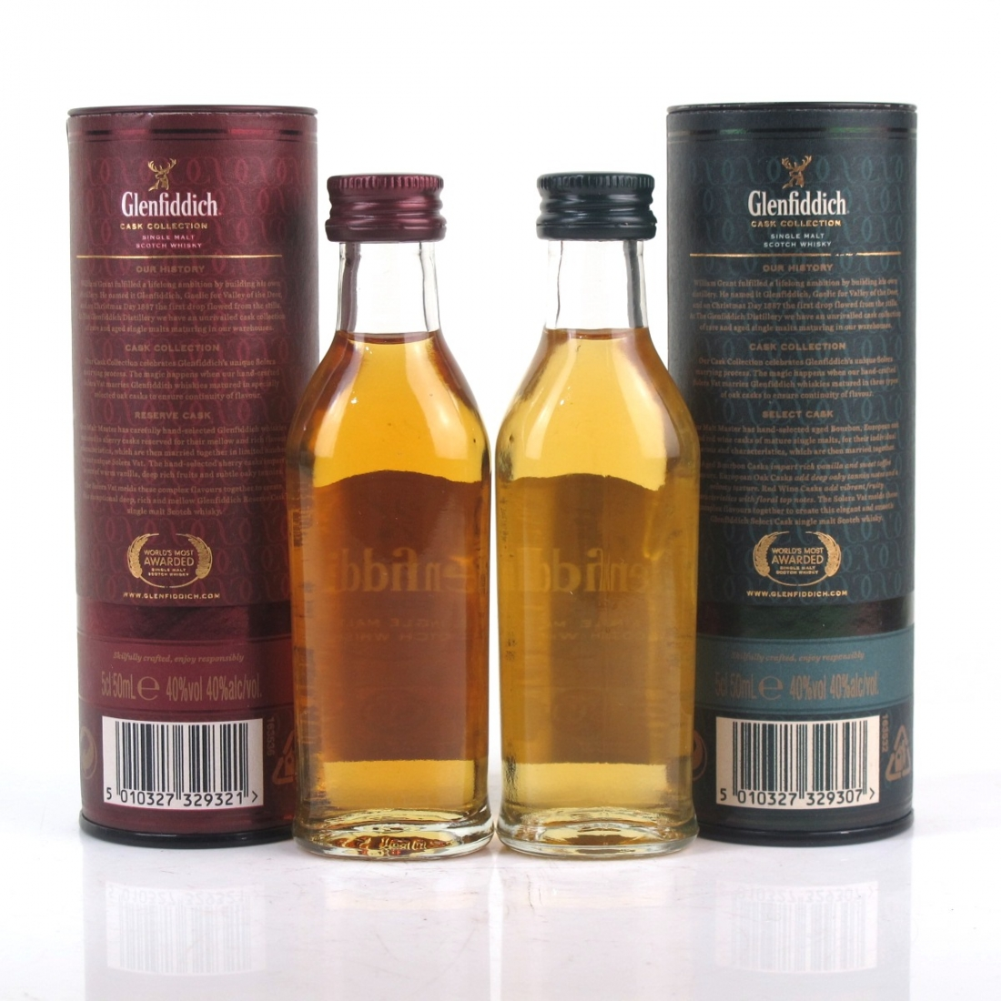 Glenfiddich Miniature Selection 2 x 5cl