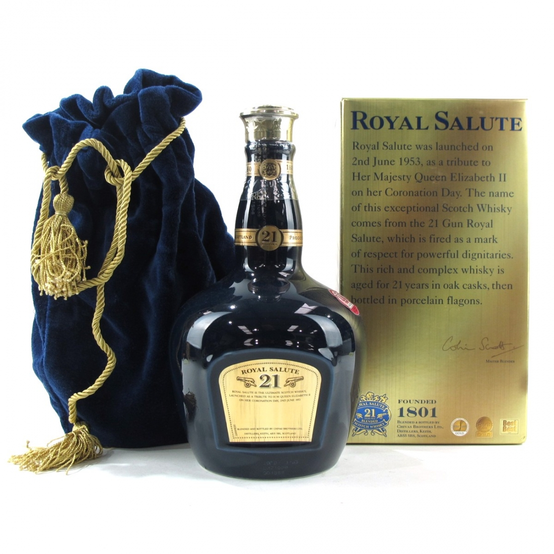 Chivas 21 Year Old Royal Salute / Sapphire Flagon