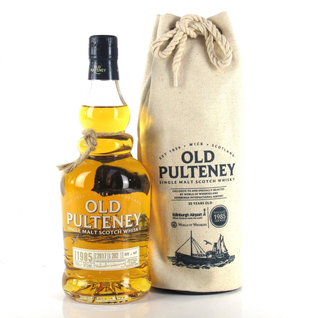 Old Pulteney 1985 Single Cask #202 / Travel Retail Exclusive / Bottle No.2