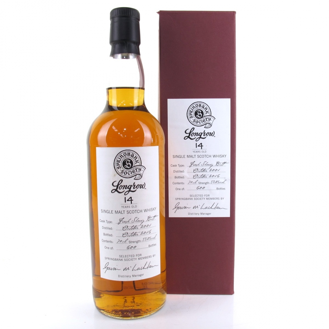 Longrow 2001 Springbank Society 14 Year Old / Fresh Sherry Butt