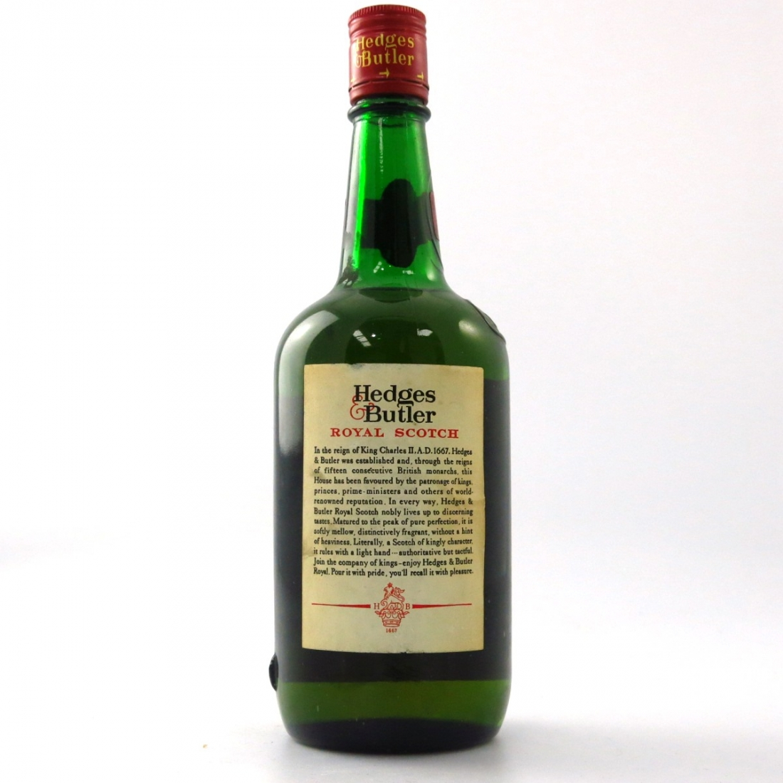 Hedges & Butler Royal De Luxe Scotch Whisky 1960s