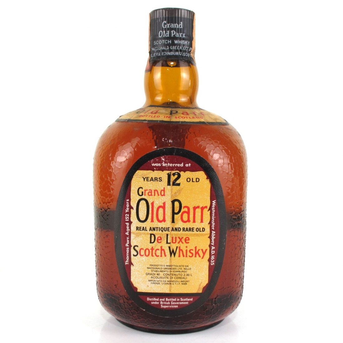 Grand Old Parr 12 Year Old 1970s 2 Litre