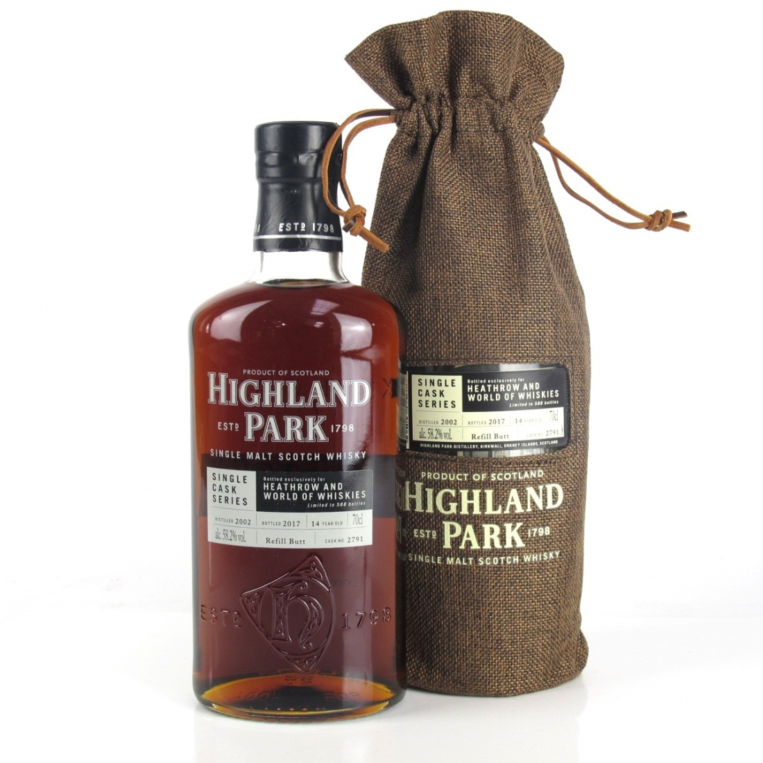Highland Park 2002 Single Cask 14 Year Old #2791 / Heathrow and World of Whiskies