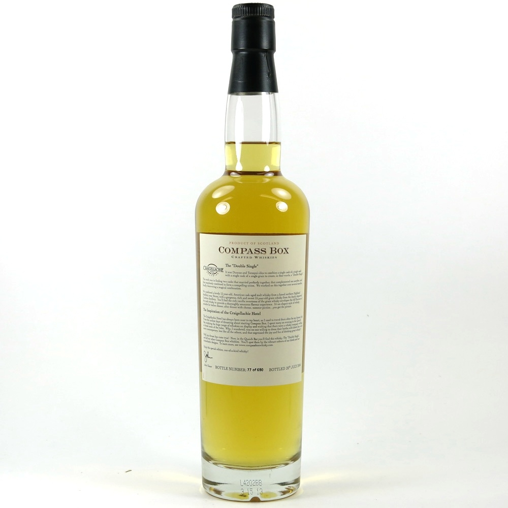 Compass Box Double Single / Craigellachie Hotel Exclusive / Signed