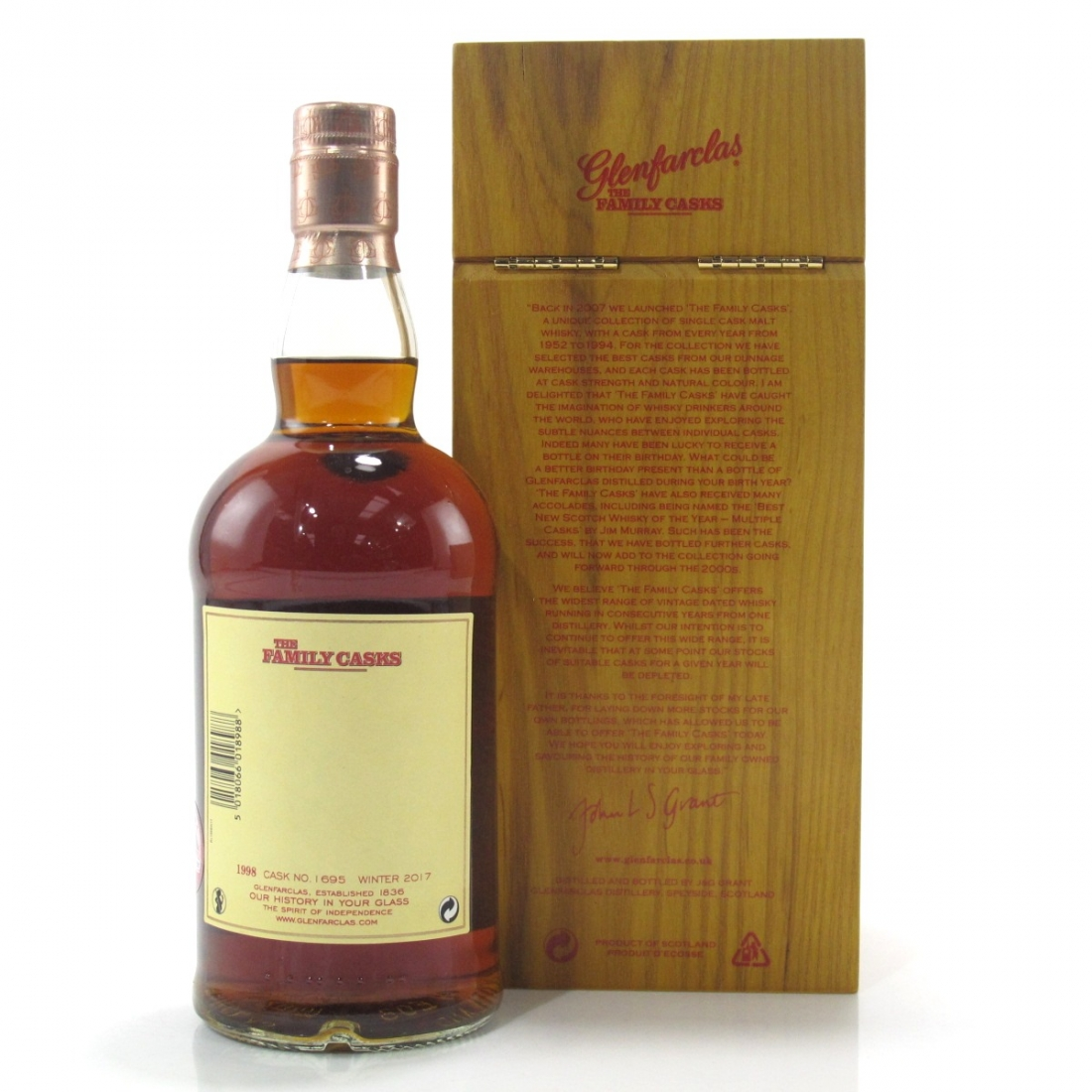 Glenfarclas 1998 Family Cask #1695 / Winter 2017