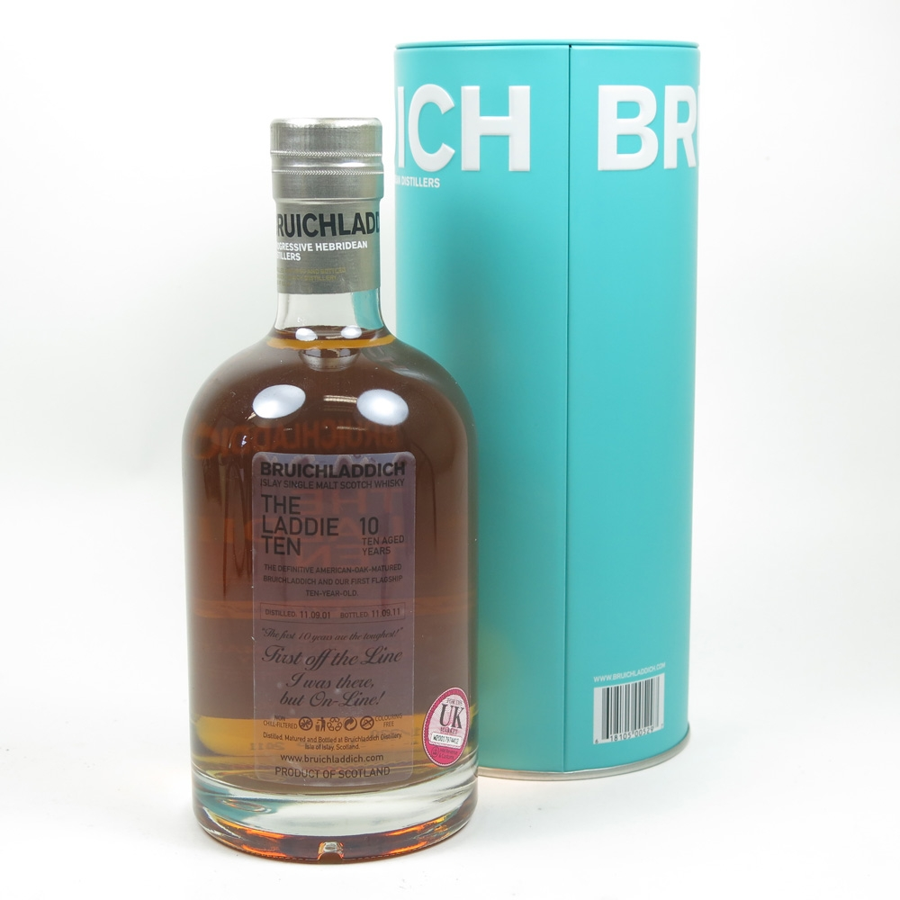 Bruichladdich Laddie 10 Year Old First Off the Line Limited edition Label