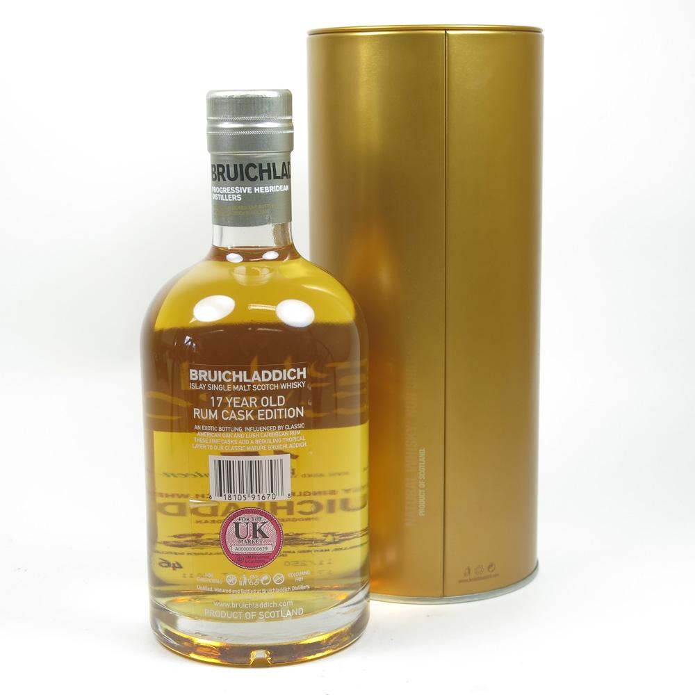 Bruichladdich 17 Year Old Rum Cask Back