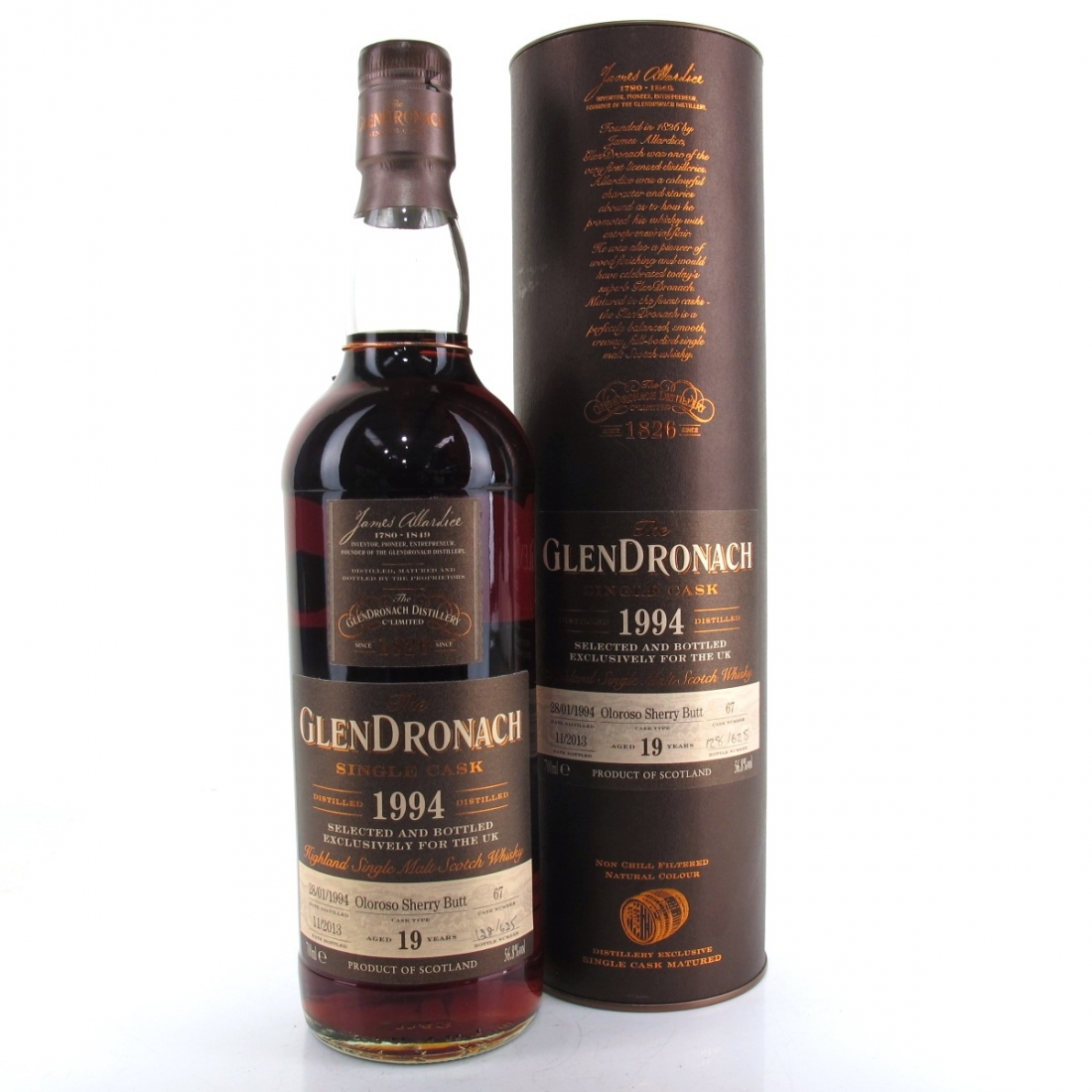 Glendronach 1994 Single Cask 19 Year Old #67