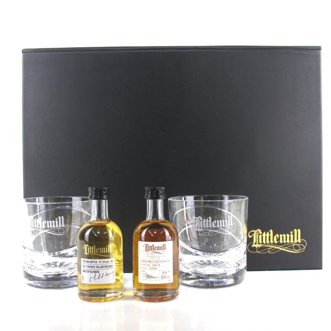 Littlemill Private Cellar Edition Miniatures Tasting Pack 2 x 5cl / Including Glasses