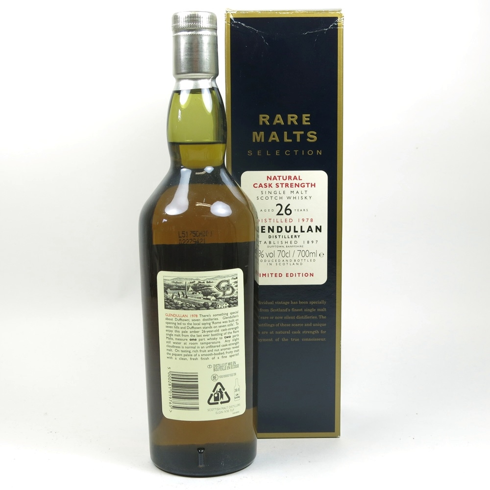 Glendullan 1978 Rare Malt 26 Year Old Back