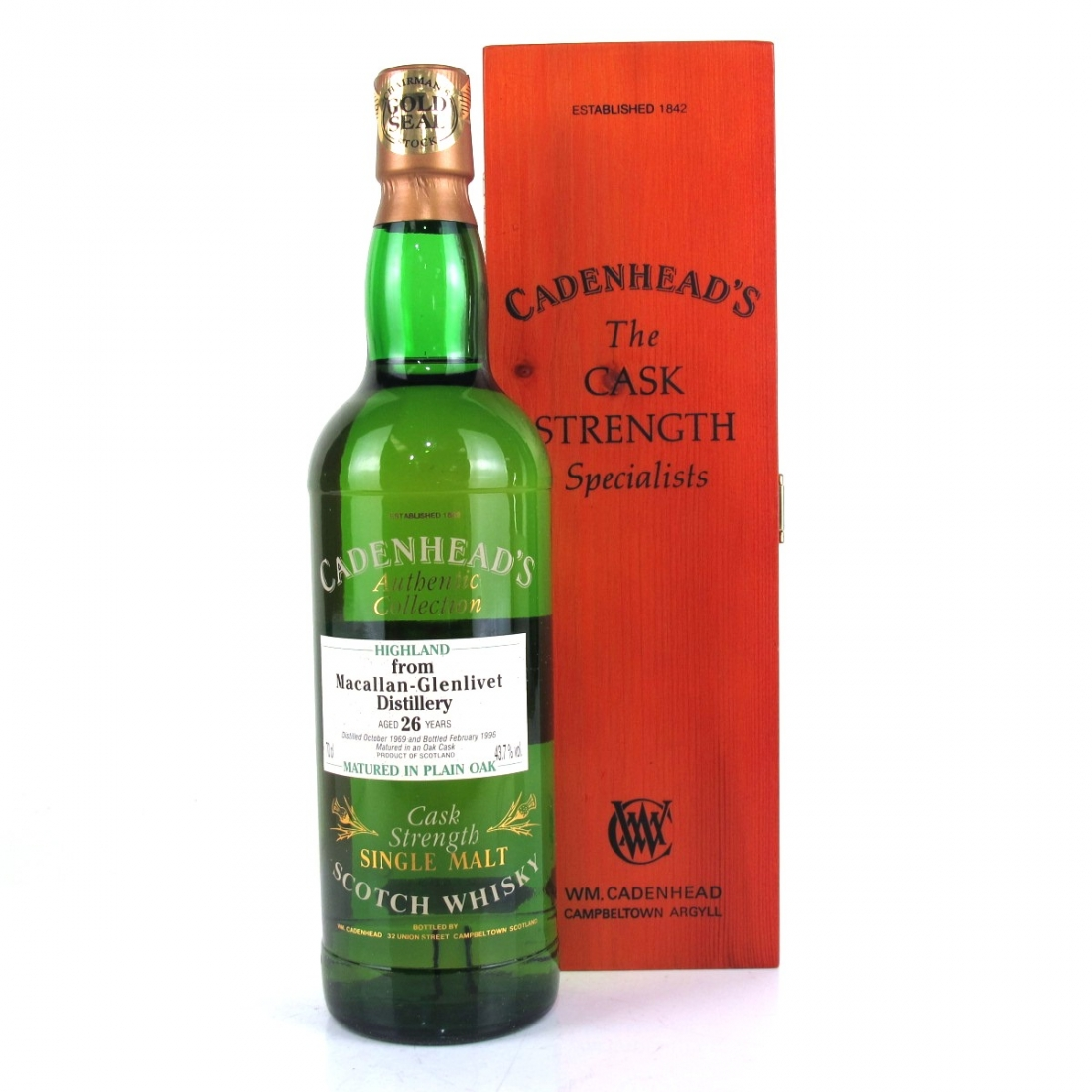 Macallan 1969 Cadenhead's 26 Year Old
