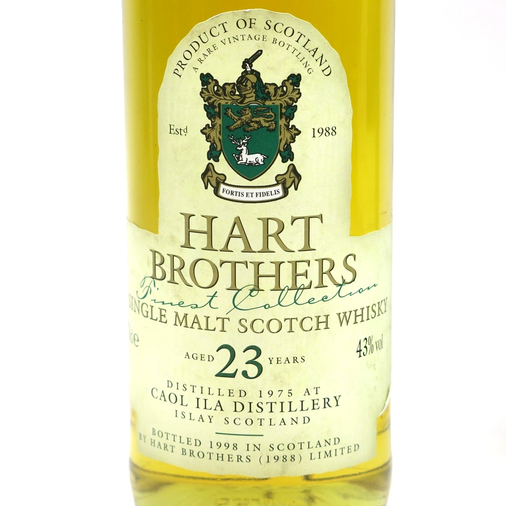 Caol Ila 1975 Hart Brothers 23 Year Old Label 1