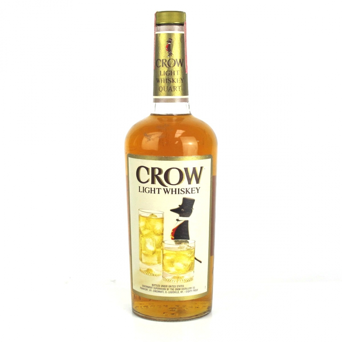 Crow 4 Year Old Light Whiskey 1 Quart 1970s