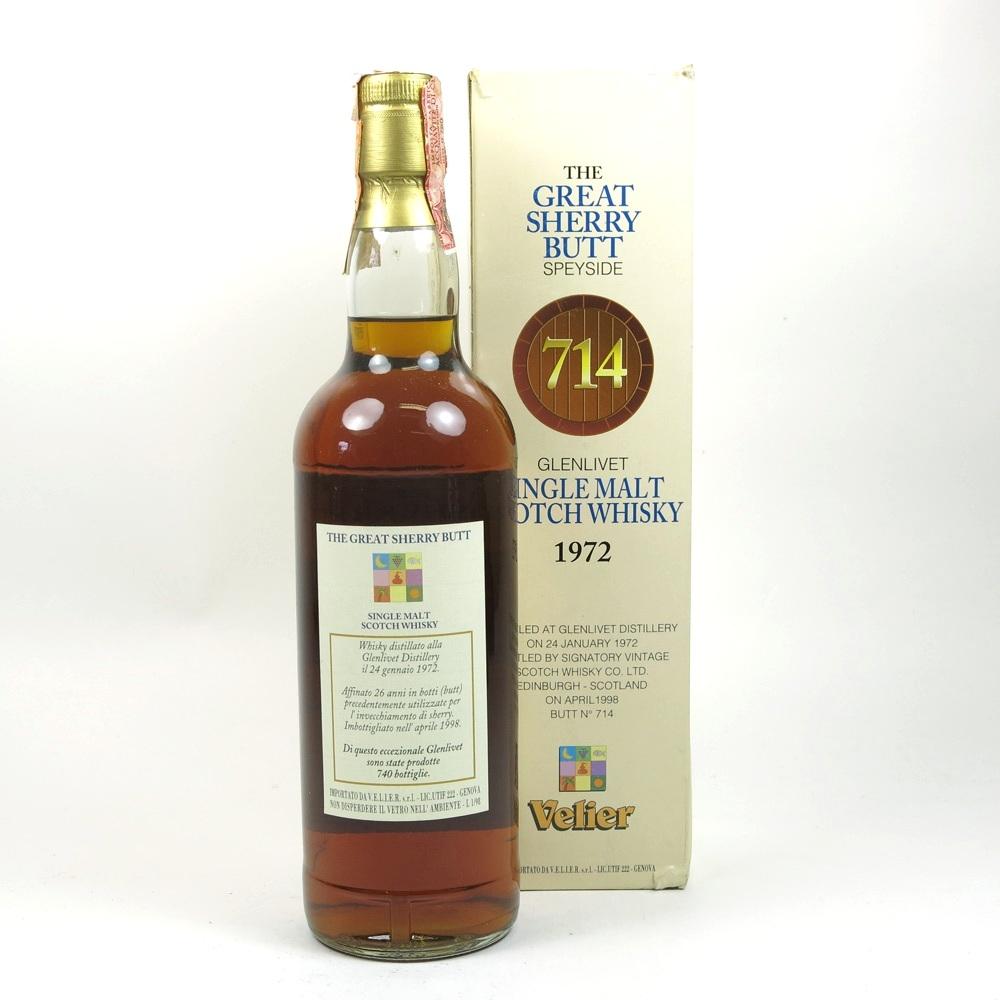 Glenlivet 1972 Signatory Vintage / Velier Import / Great Sherry Butt Back