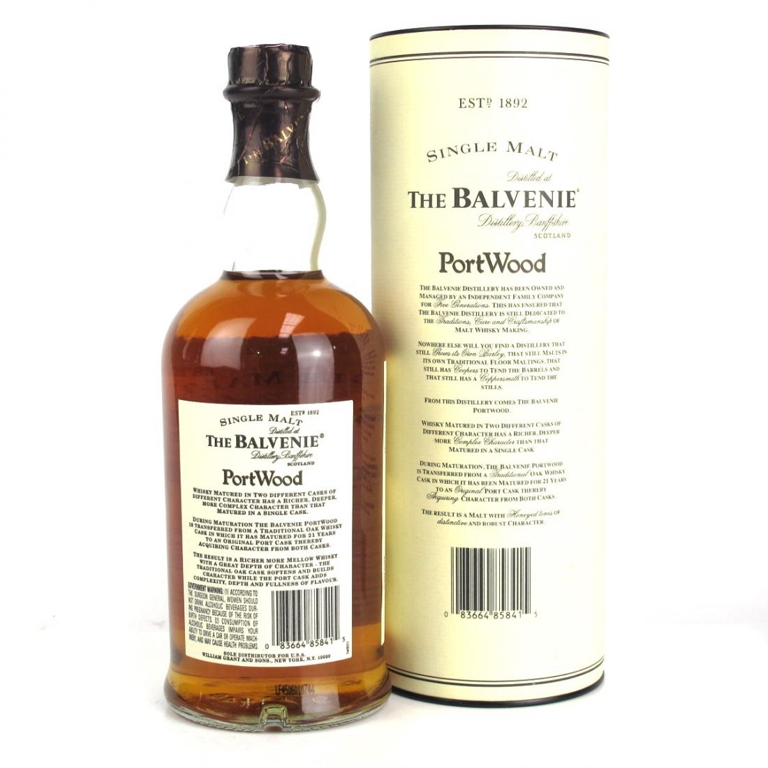 Balvenie 21 Year Old Port Wood 1997 75cl / US Import
