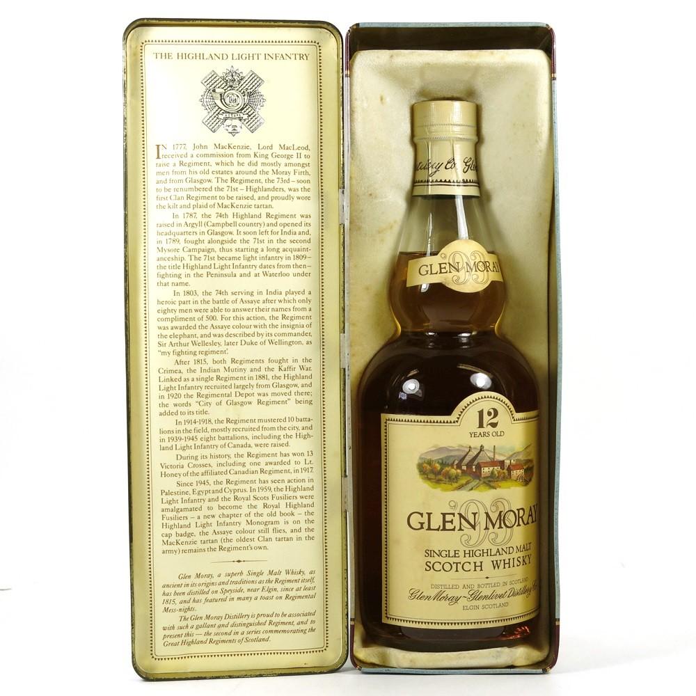 Glen Moray 12 Year Old The Highland Light Infantry Tin