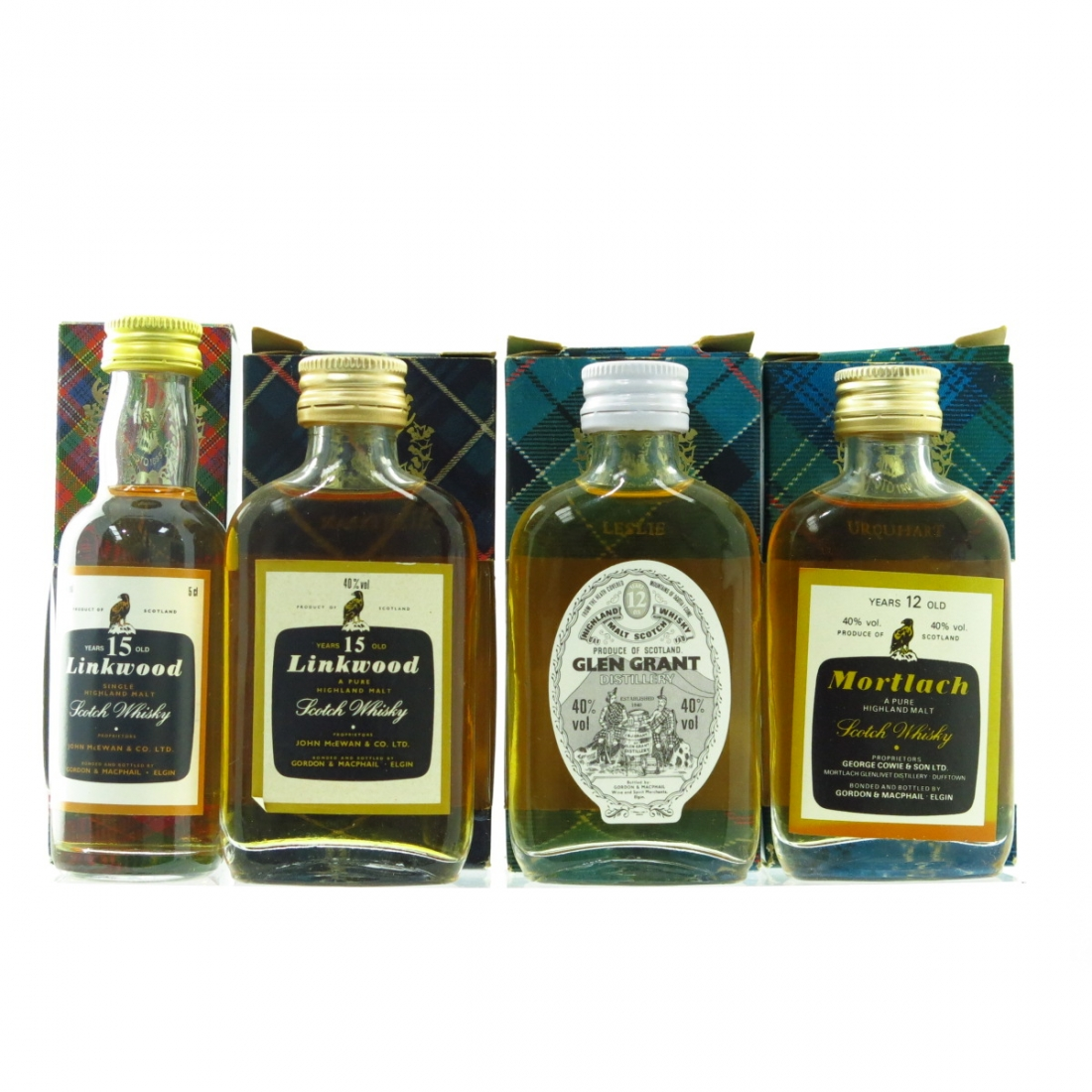 Gordon And MacPhail Speyside 1980s Miniature Selection 4 x 5cl