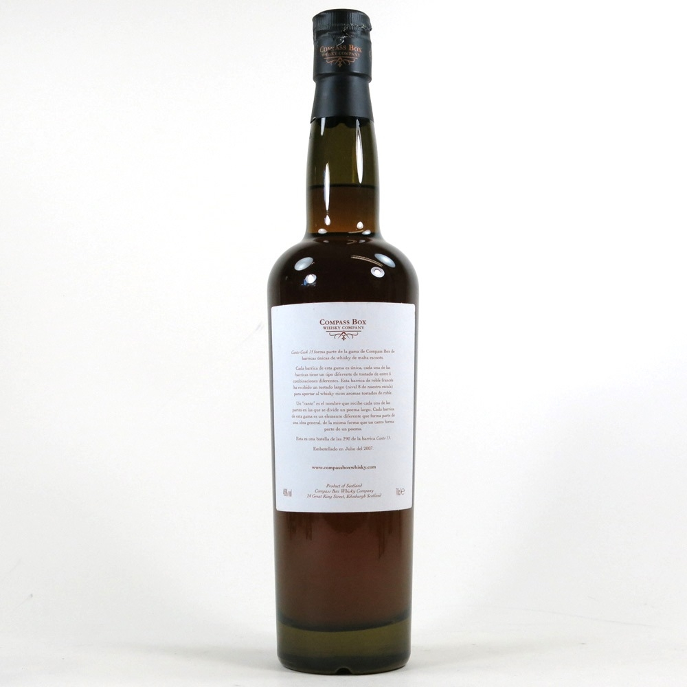 Compass Box Canto Cask #15 / Damaged Seal