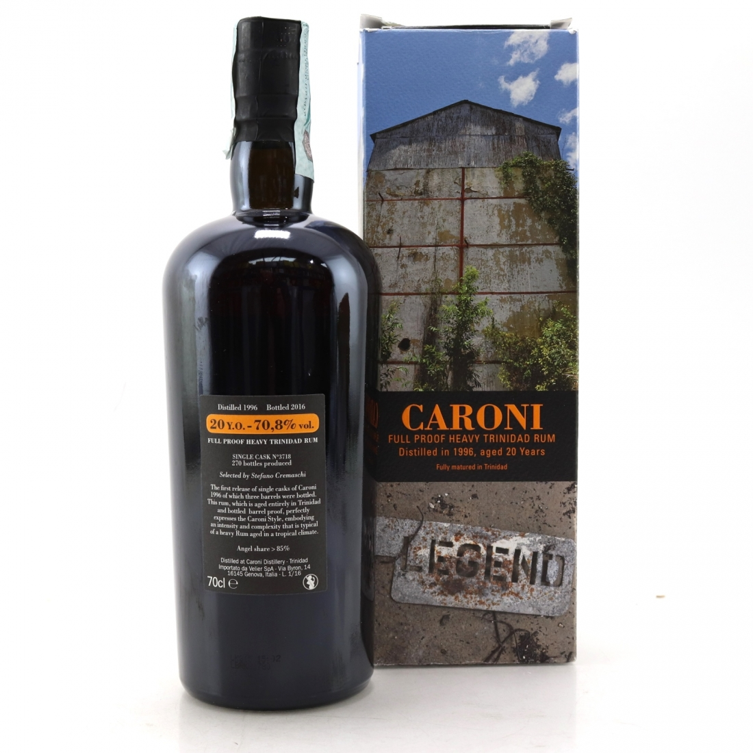 Caroni 1996 Single Cask 20 Year Old Rum / Stefano Cremaschi
