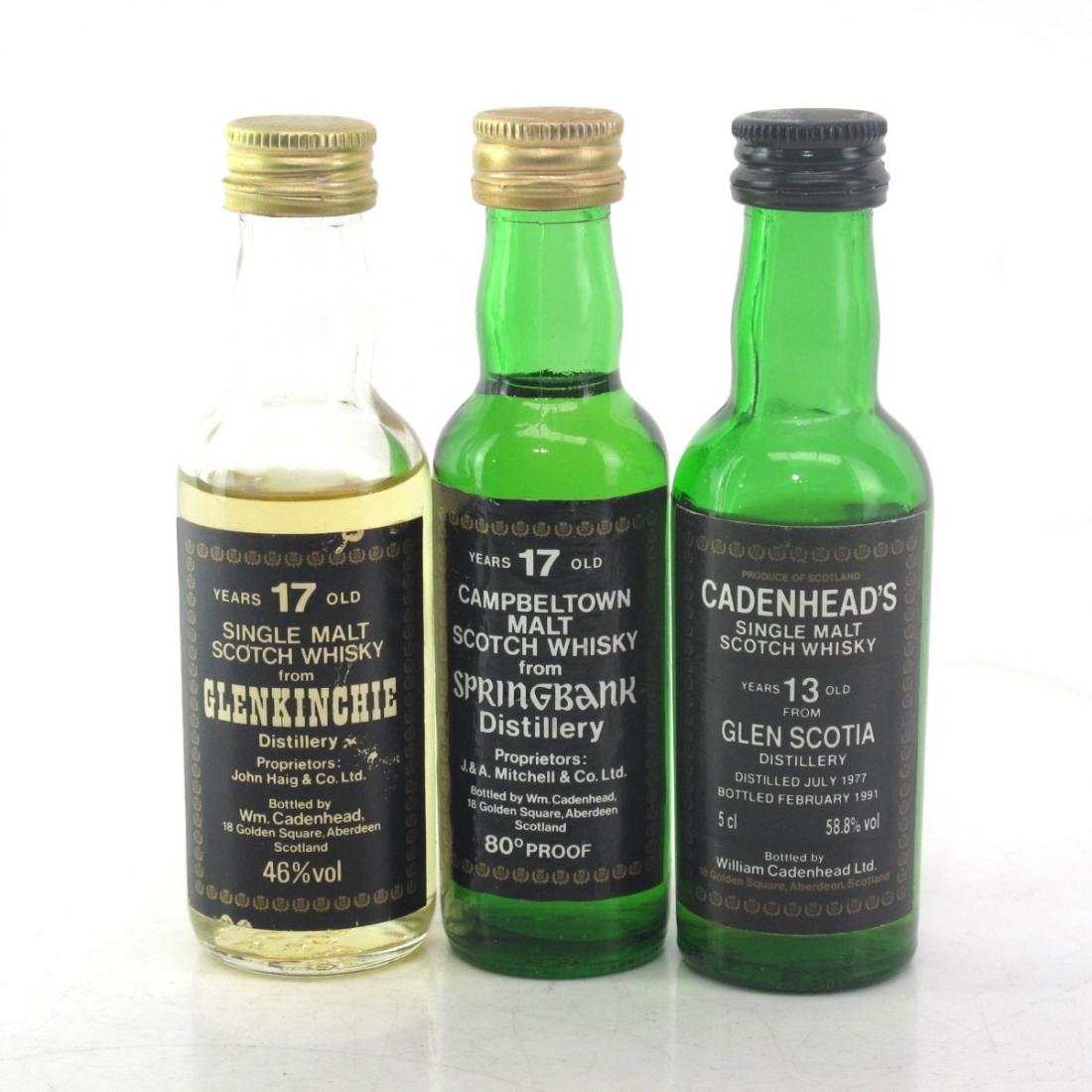 Campbeltown & Lowland Cadenhead's Miniatures x 3
