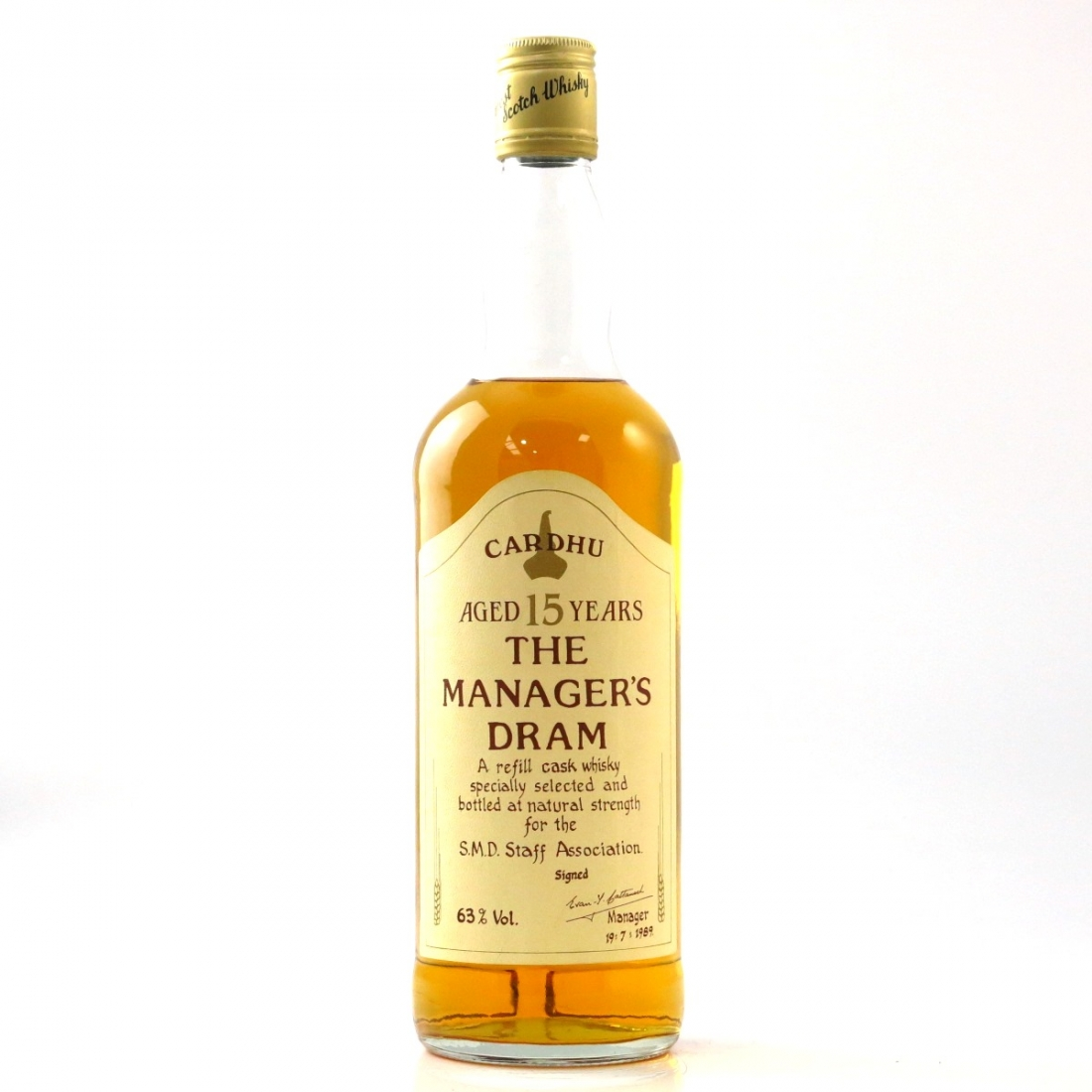 Cardhu 15 Year Old Manager's Dram 1989