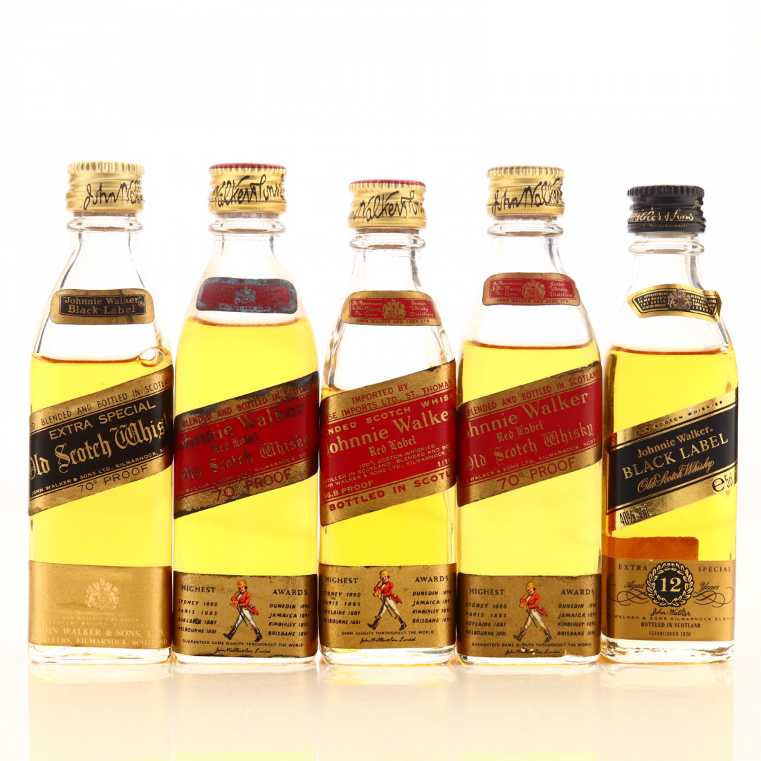 Johnnie Walker Miniature x 5