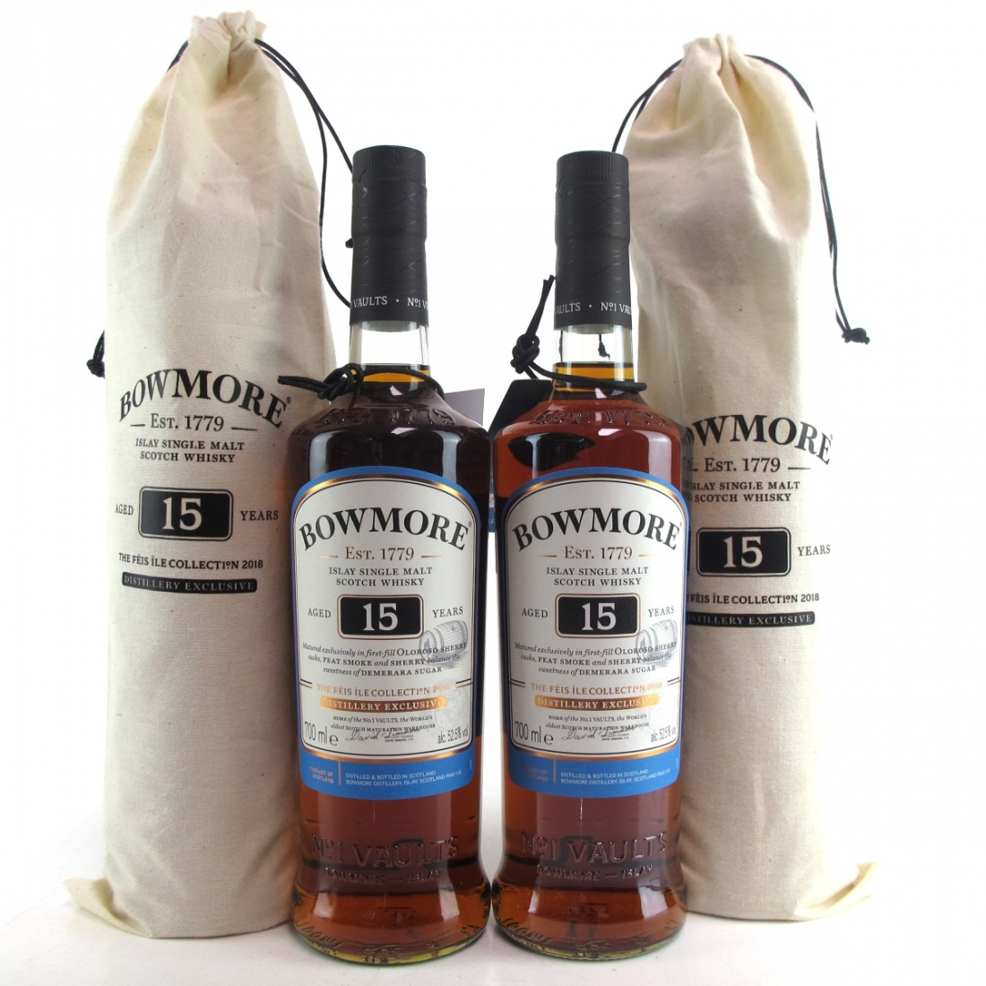 Bowmore 15 Year Old Sherry Cask 2 x 70cl / Feis Ile 2018