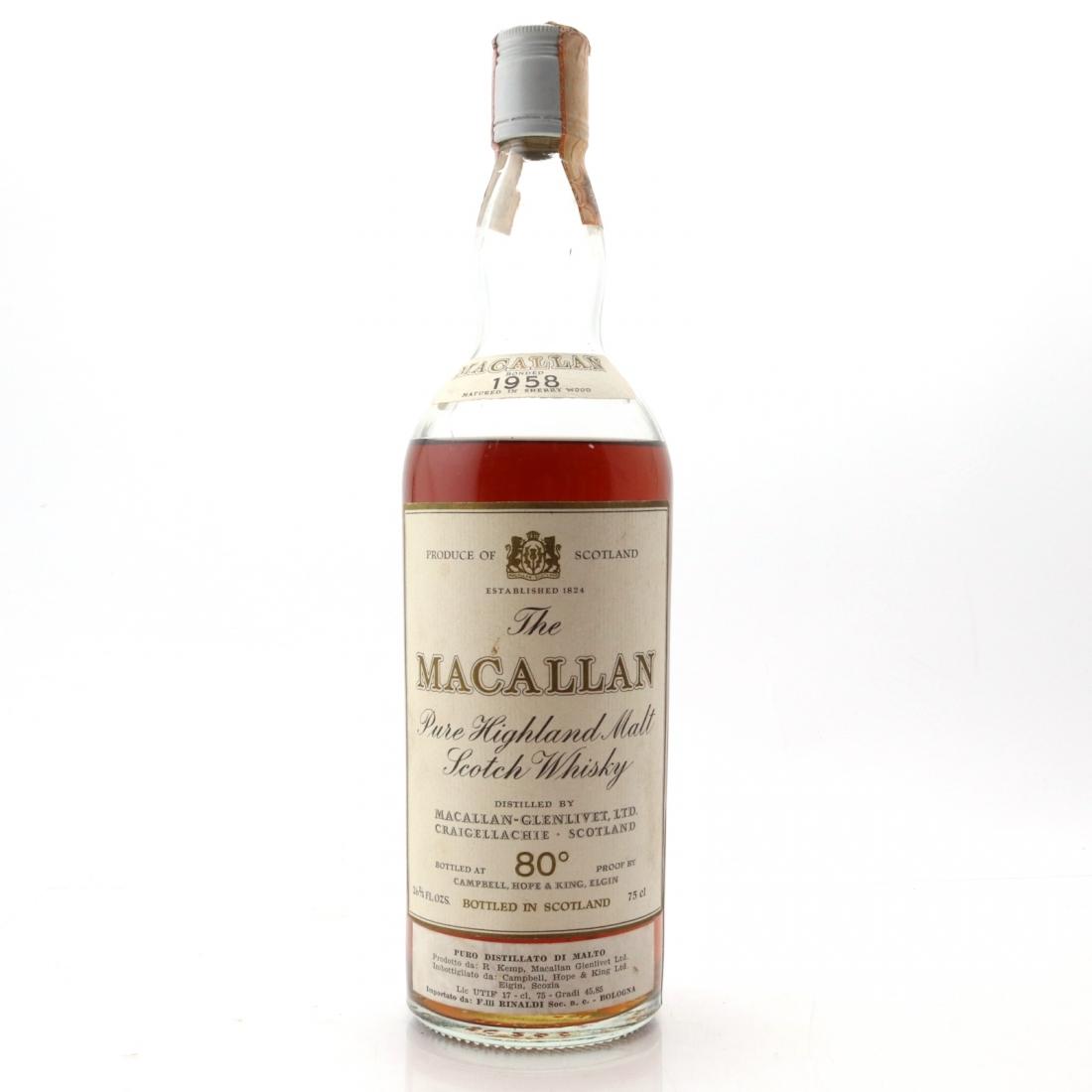 Macallan 1958 Campbell, Hope and King / Rinaldi