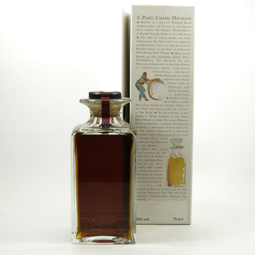 Macallan 1965 / The Macallan Decanter 25 Year Old Back 2