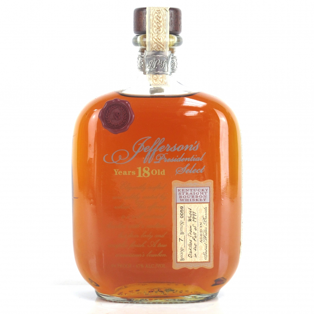 Jefferson's 1991 Presidential Select 18 Year Old