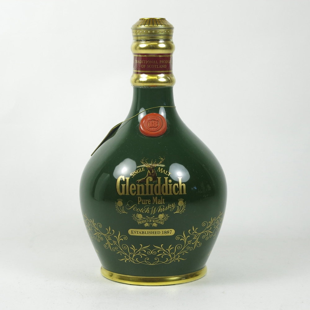 Glenfiddich 18 Year Old Pure Malt Decanter front
