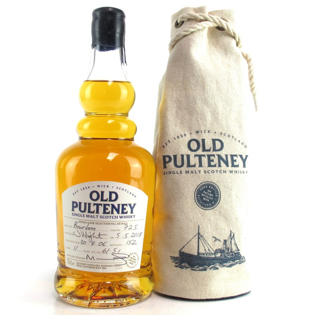 Old Pulteney 2006 Single Bourbon Cask 11 Year Old #725