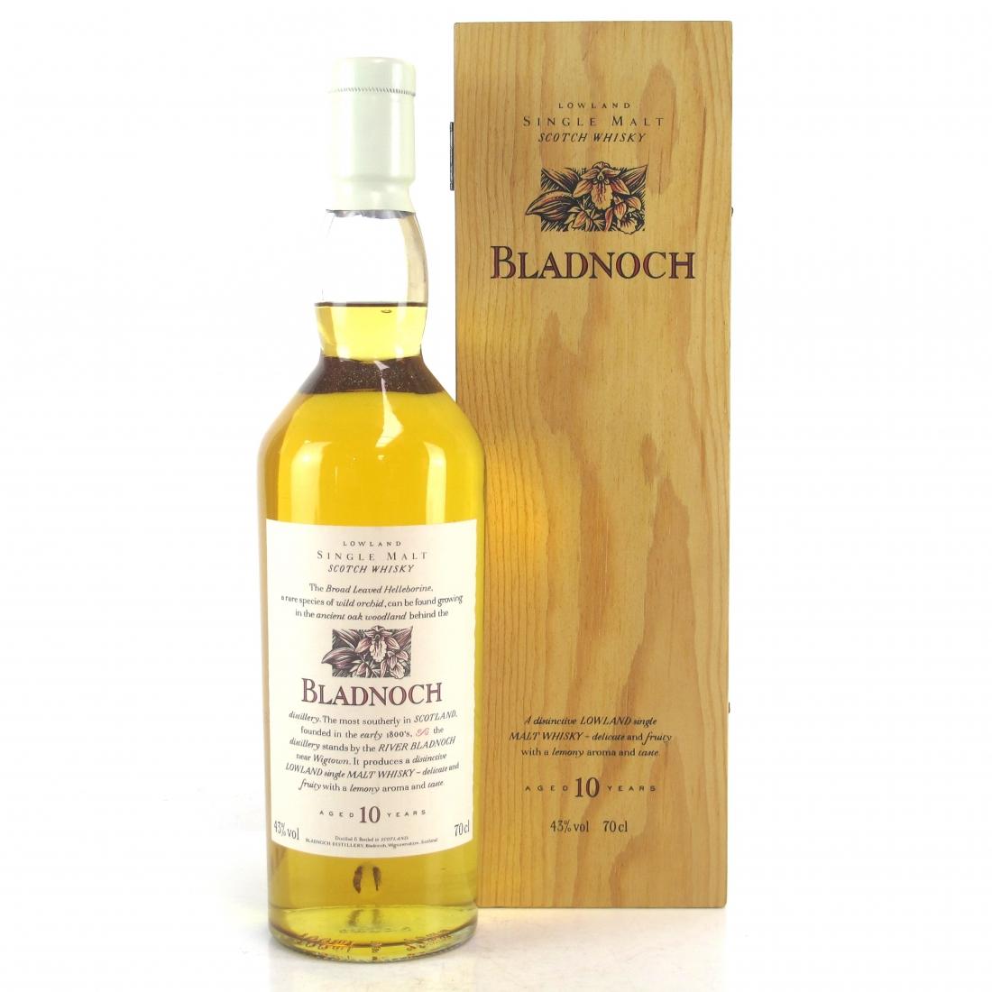Bladnoch 10 Year Old Flora & Fauna White Cap / Wooden Box