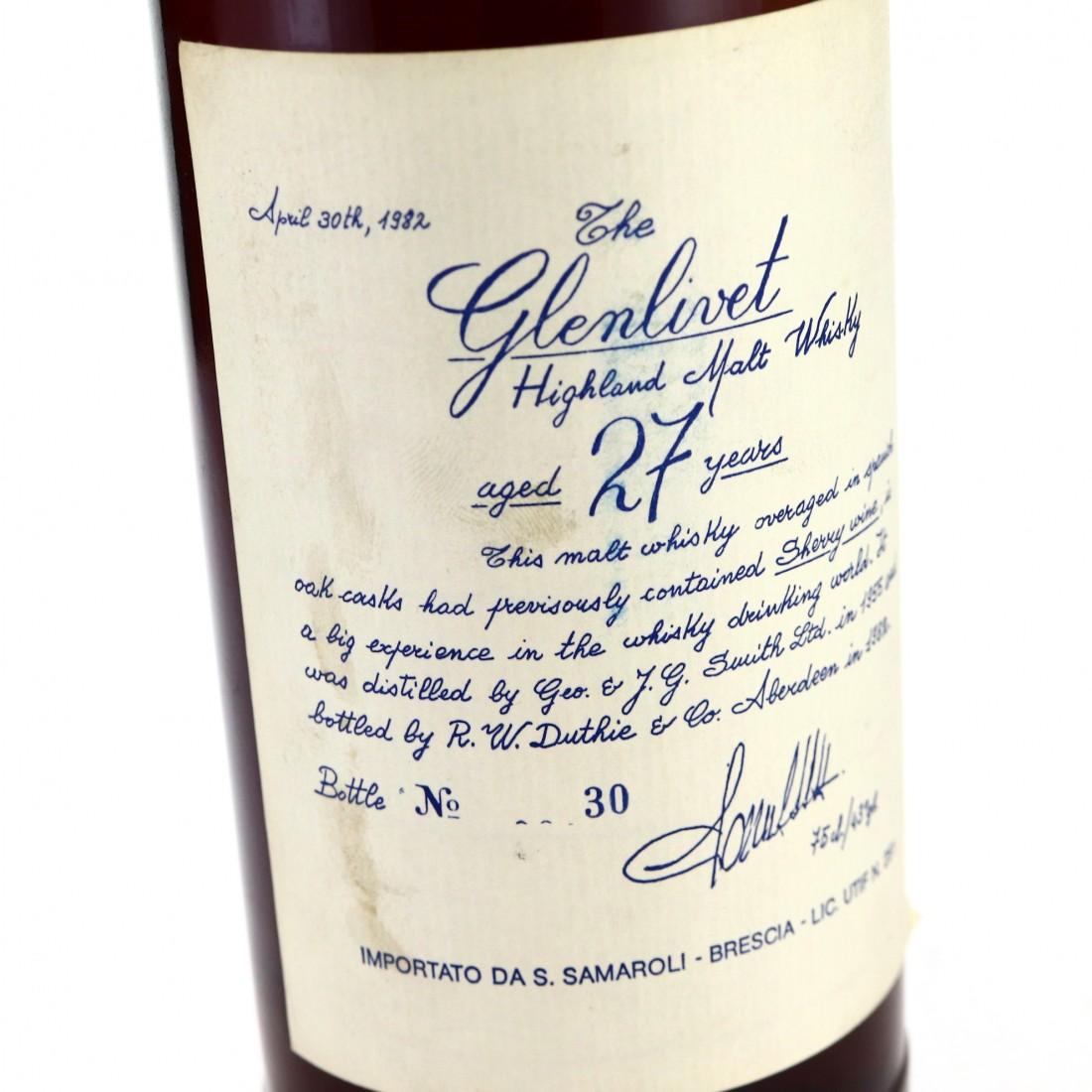 Glenlivet 1955 Samaroli / Handwritten Labels